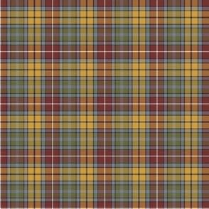 "Buchanan Ancient tartan, 2"" weathered colors (1/3 scale)"