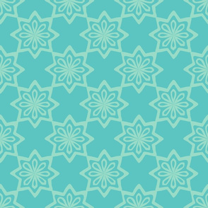 Moroccan Tile - Mint, Turquoise