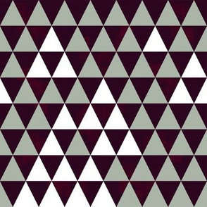 Triangle Trees (Violet-Green-White)