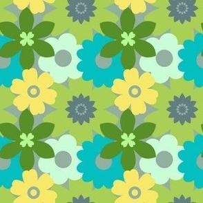 Vintage Retro Flower Pattern