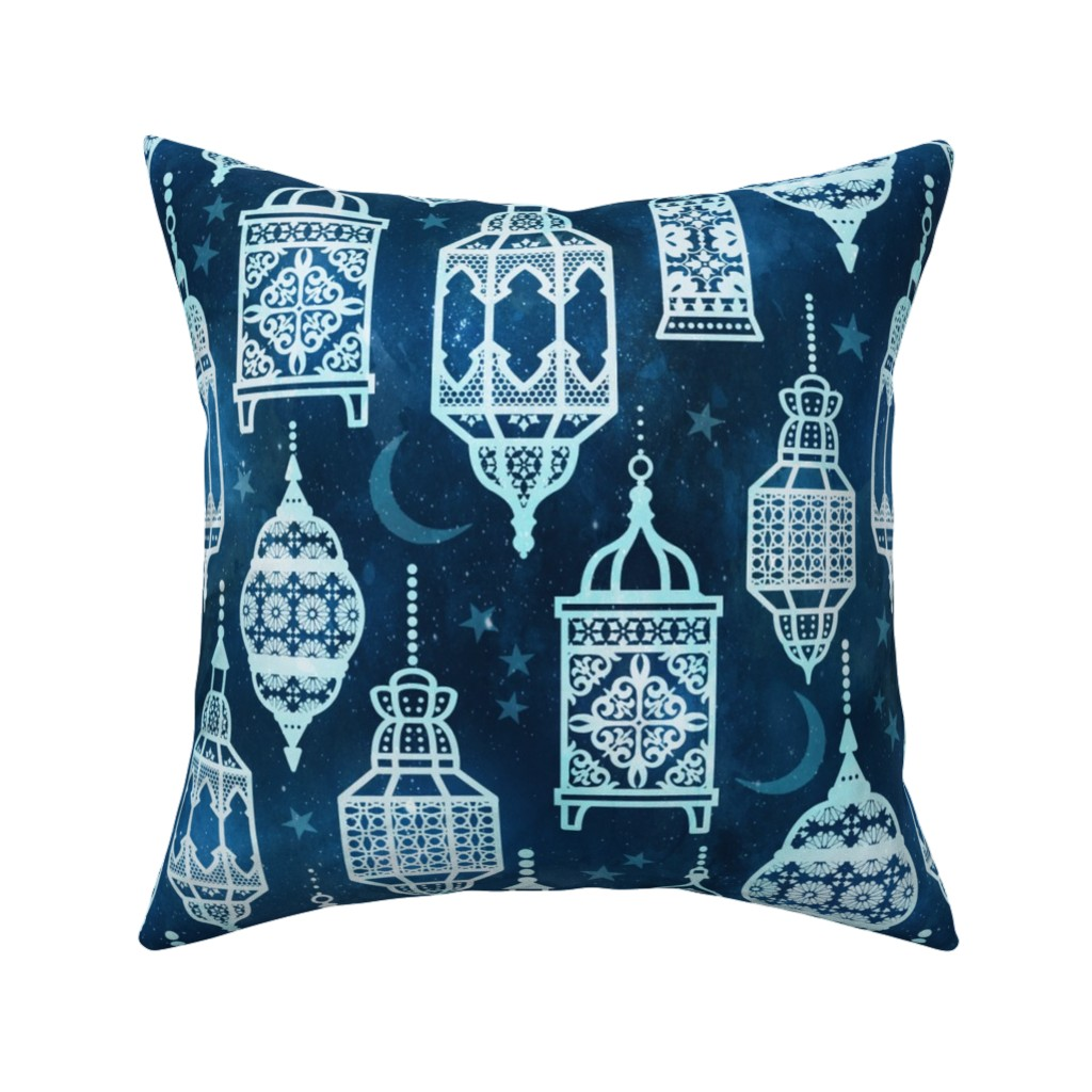 Catalan Throw Pillow featuring Marrakech nights by adenaj