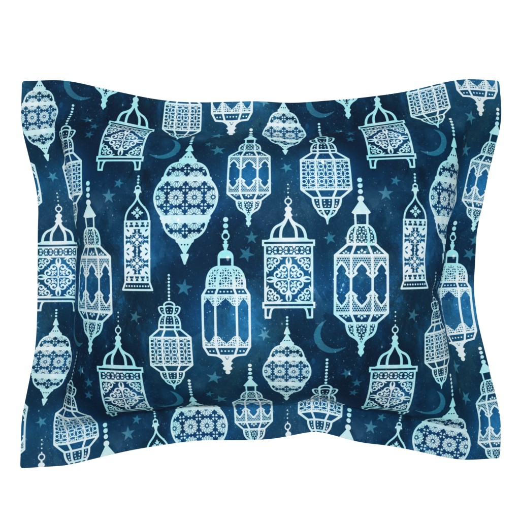 Sebright Pillow Sham featuring Marrakech nights by adenaj