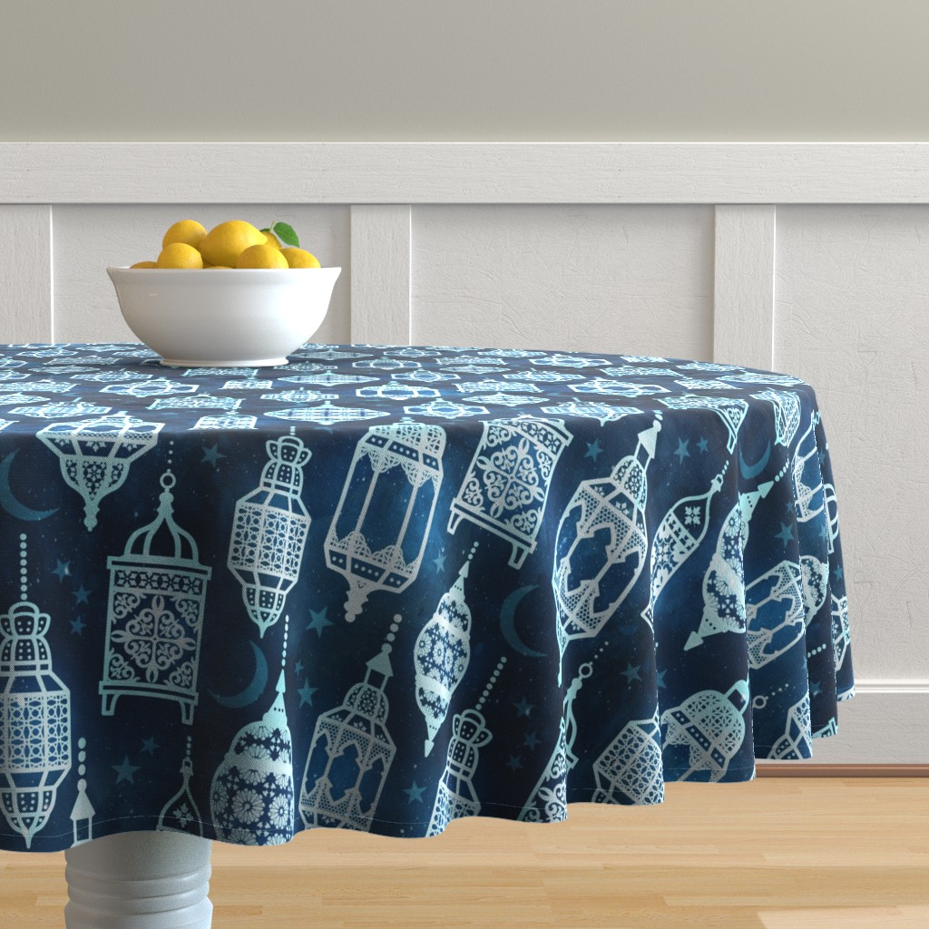 Malay Round Tablecloth featuring Marrakech nights by adenaj