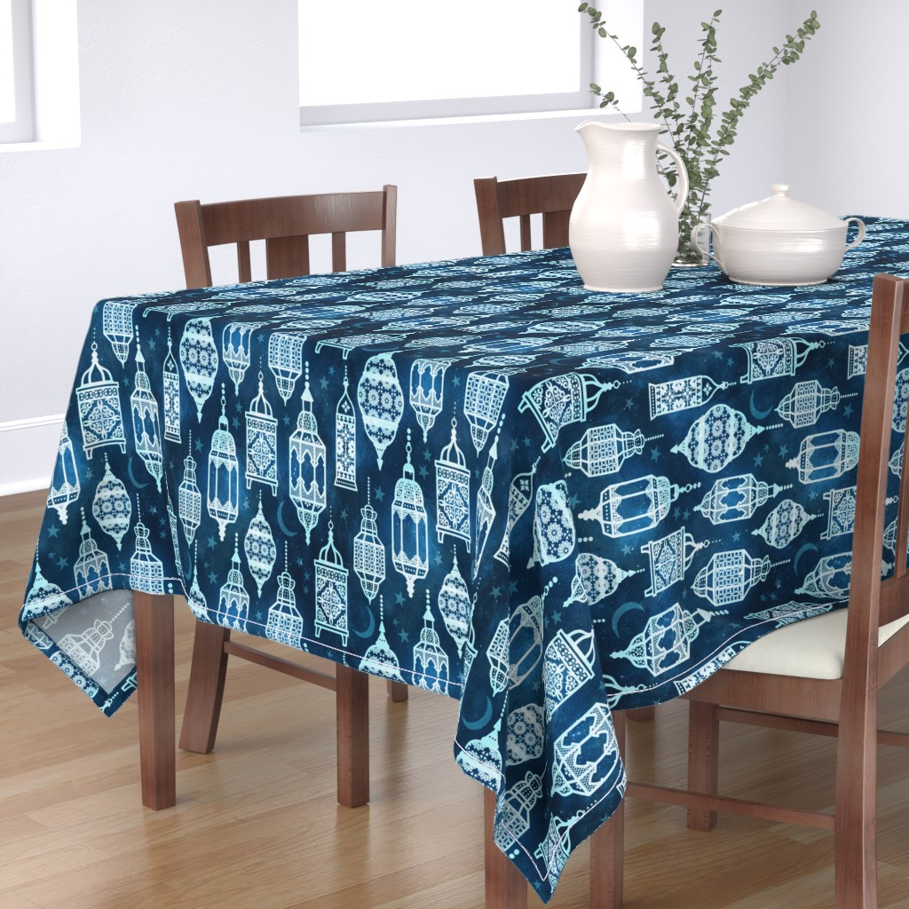 Bantam Rectangular Tablecloth featuring Marrakech nights by adenaj