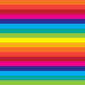 Rainbow Striped Fabric