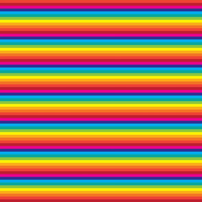 Rainbow Stripes -Quarter Inch