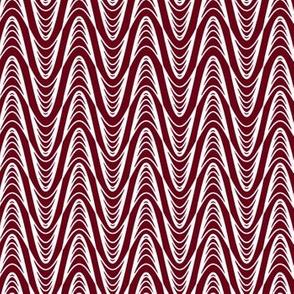 Atomic Wave Zig-Zag - Cranberry
