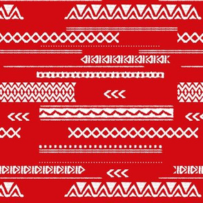 Native aztec design ethnic red national holiday usa 4th of July print red