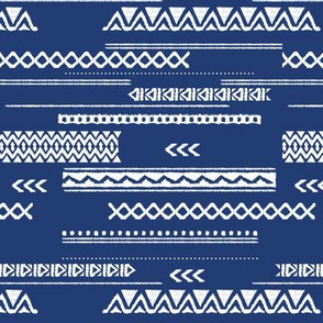 Native aztec design ethnic red national holiday usa 4th of July print blue