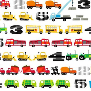 Trucks and Tractors Small Counting