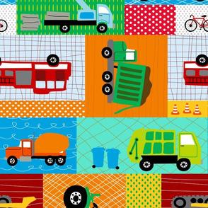 Trucks and Tractors Panel Medium