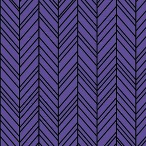 herringbone feathers purple on black