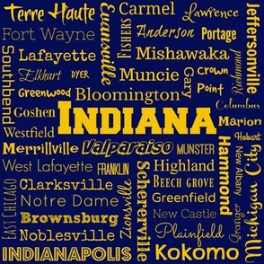 Indiana cities, blue