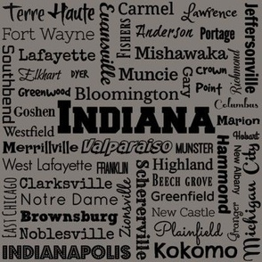 Indiana cities, taupe