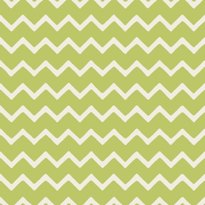 Babouche bold chevron stripe Lime