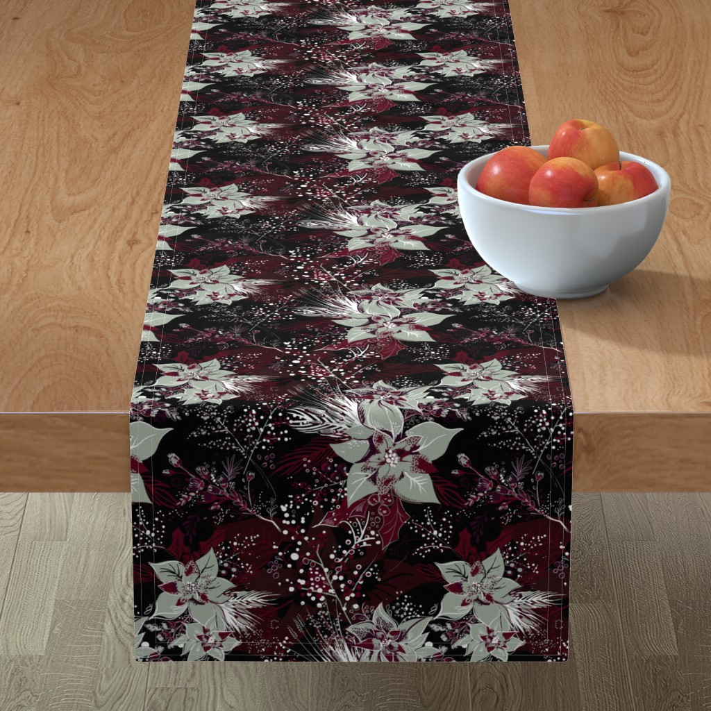 Minorca Table Runner featuring Elegant Holiday by reneeciufo