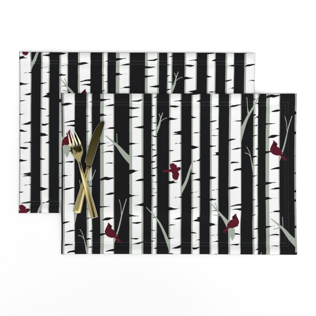 Lamona Cloth Placemats featuring Birch Trees by ladyspring