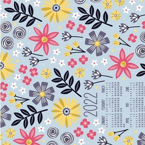 2021 Garden Joy Tea Towel Calendar