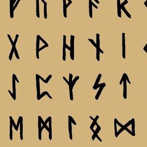 Nordic Runes on Calico // Large