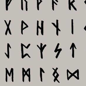 Nordic Runes on Storm Cloud Grey // Large