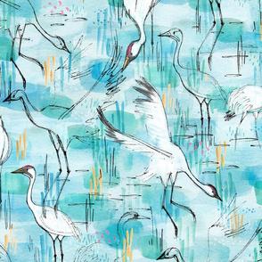 Whooping Cranes - © Lucinda Wei