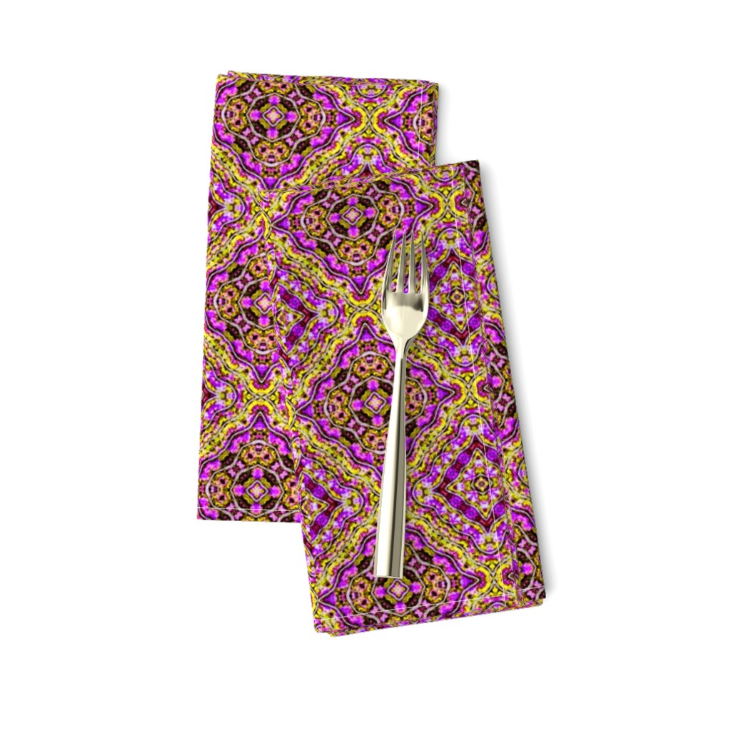 Amarela Dinner Napkins featuring Purple Paisley Diamonds by just_meewowy_design