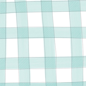Everett Check in Turquoise