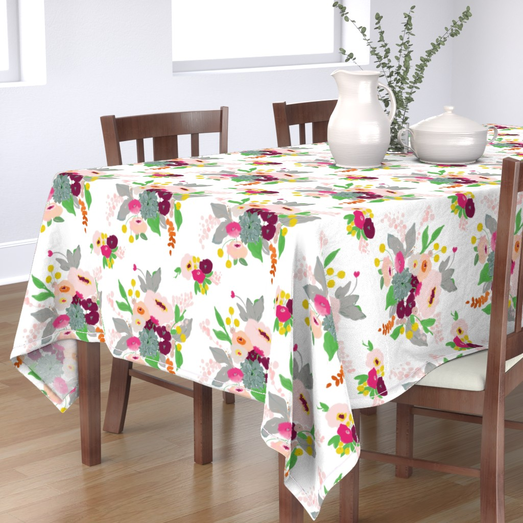 Bantam Rectangular Tablecloth featuring Spring bouquet by alison_janssen