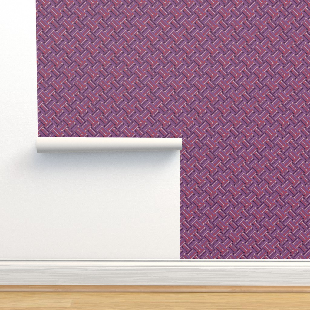 Isobar Durable Wallpaper featuring Arrows - Vintage Matchbox Violet by siya