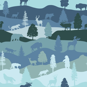 Forest animals blues