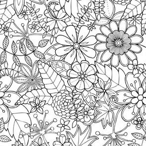 Doodle flowers - Spring