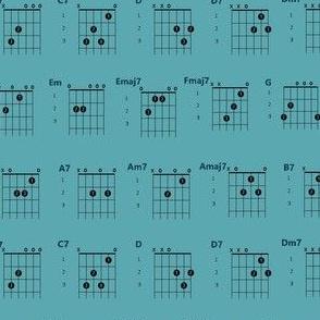 guitar chords teal