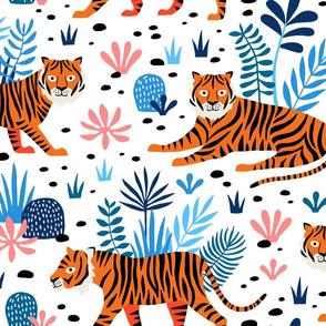 Jumbo Tiger Jungle white