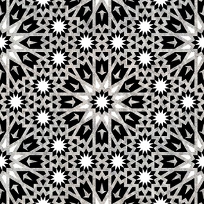 Tangier Tile Black and White {SMALL}