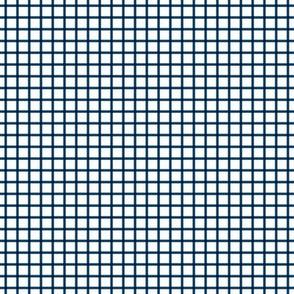"navy blue windowpane grid .25"""