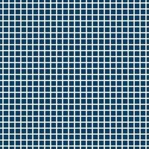 "navy blue windowpane grid .25"" reversed"