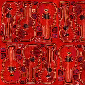 Panama Mola - Red Guitars - Mask Size
