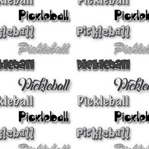 Pickleball Multi-Font BW