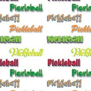 Pickleball Multi-Font Color