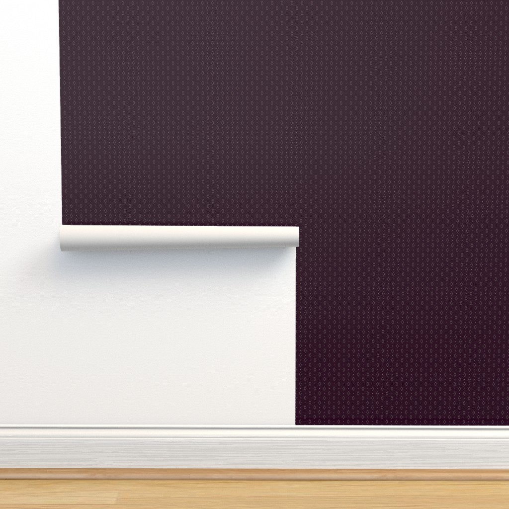 Isobar Durable Wallpaper featuring Tiny Rhombs on Dark Violet  by marketa_stengl