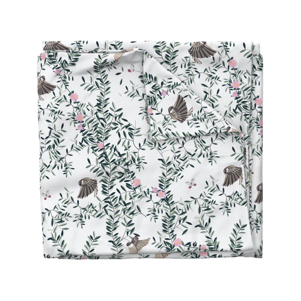 Wyandotte Duvet Cover featuring The Singing Birds by stefaniapochesci