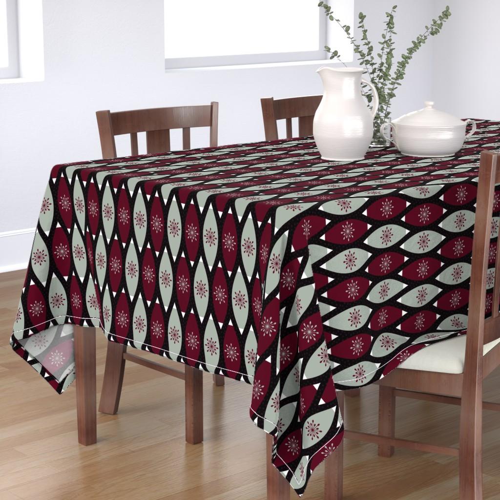 Bantam Rectangular Tablecloth featuring Elegant Christmas Ornaments by thewellingtonboot