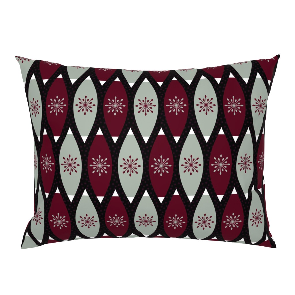 Campine Pillow Sham featuring Elegant Christmas Ornaments by thewellingtonboot