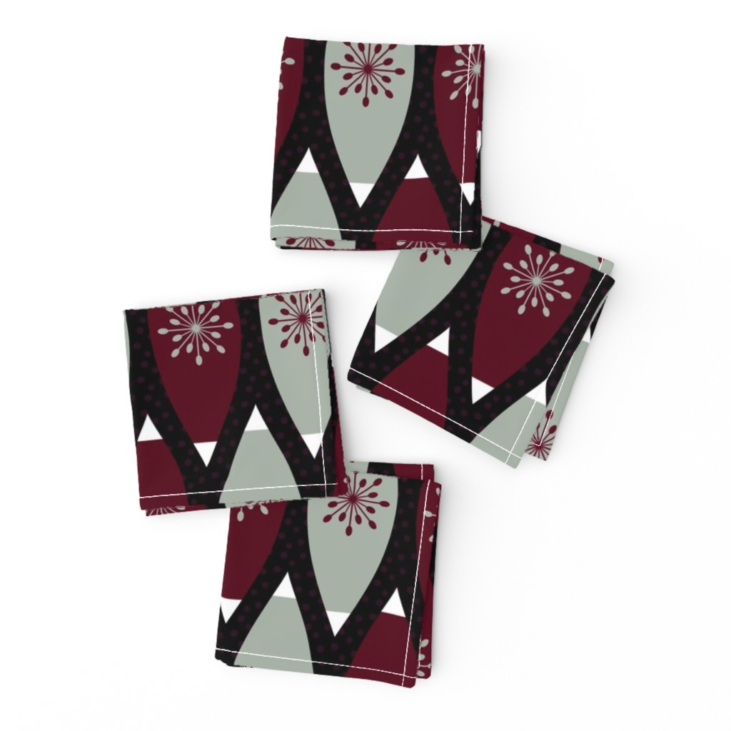 Frizzle Cocktail Napkins featuring Elegant Christmas Ornaments by thewellingtonboot