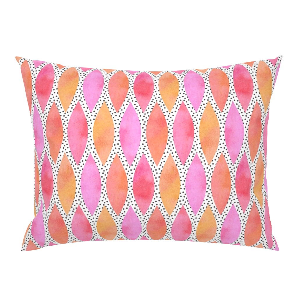 Campine Pillow Sham featuring Orange Watercolour Scales by thewellingtonboot