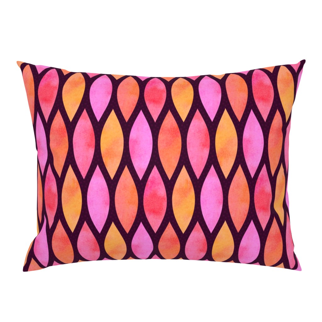 Campine Pillow Sham featuring Sunset Scales by thewellingtonboot