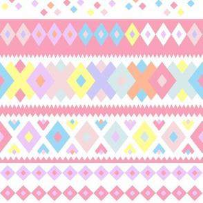 Peru Crazy Geo Stripe Pink Multi