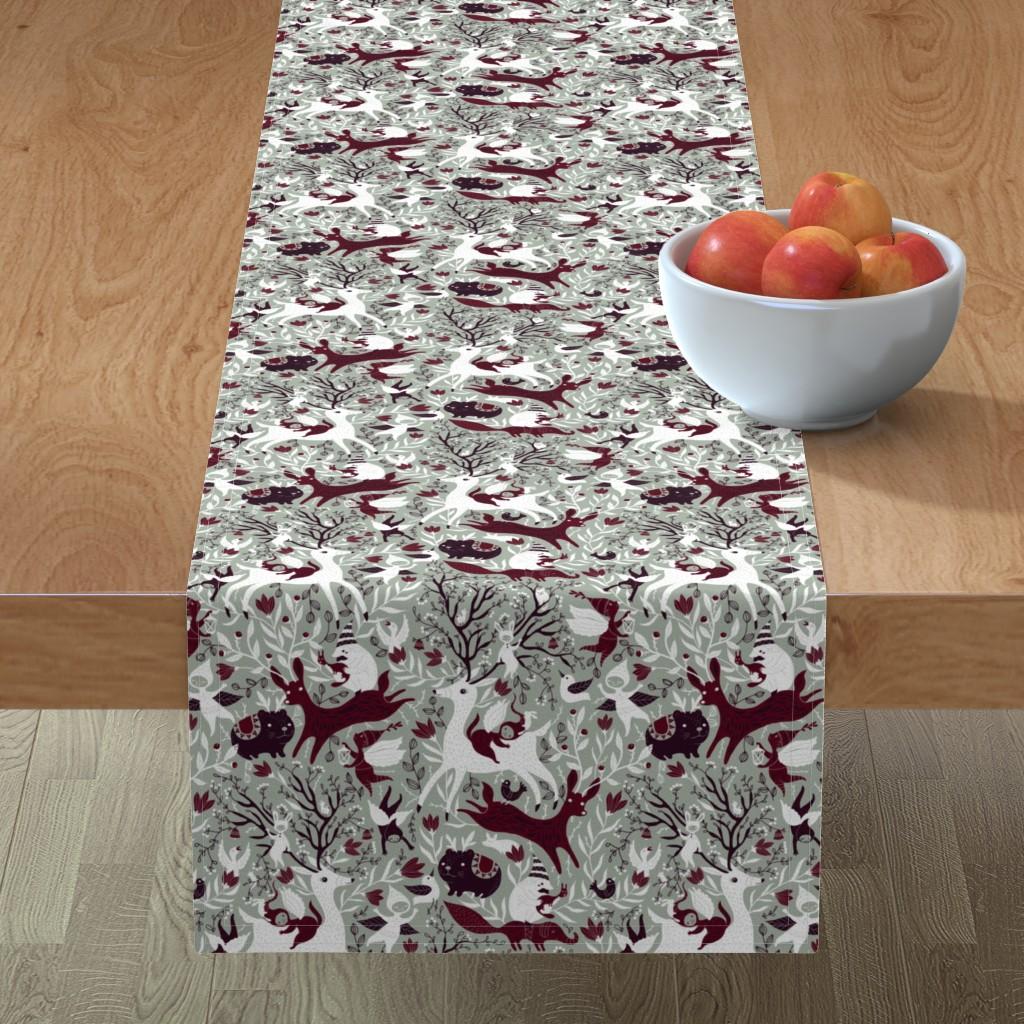 Minorca Table Runner featuring paletterestrictedChristmasdark by gaiamarfurt