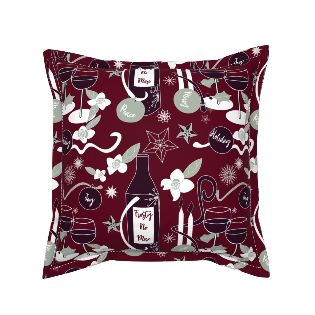 Serama Throw Pillow featuring Frosty No More by stasiajahadi