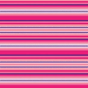 Peru Skinny Stripe Bright Pink Purple